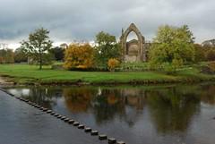 24102009 bolton abbey (kierentc) Tags: autumn steppingstones boltonabbey