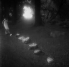 (Sissel Annett) Tags: portrait woman white black 6x6 film girl rolleiflex self vintage photography dance dress hp5