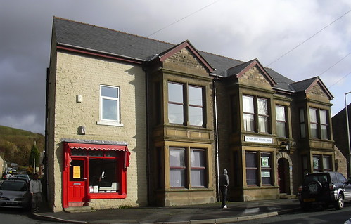 """Butchers and the """"Thorn Hotel"""" now """"The Mary Hindle Centre"""" Bury Road, Haslingden"""