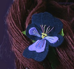 navy (ROROISM of postjelitco) Tags: wool scarf petals pin stitch blossom embroidery coat brooch pansy violet jewelry felt accessories etsy multicolored pansies flowerhead everlasting acket dawanda roroism