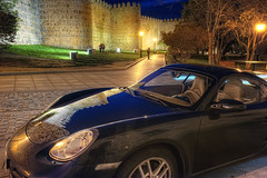 Porsche Cayman, vila, HDR (marcp_dmoz) Tags: auto espaa reflection car night photoshop spain nikon shot map coche porsche citywalls nocturna cayman walls bluehour nikkor 1735mmf28d spiegelung muralla tone hdr spanien avila reflejos fahrzeug nachtaufnahme stadtmauer vila blauestunde automobil pkw castillayleon photomatix sportauto tonemapped tonemapping horaazul d700 aviladeloscaballeros castilleandleon kastilienundleon aviladelrey