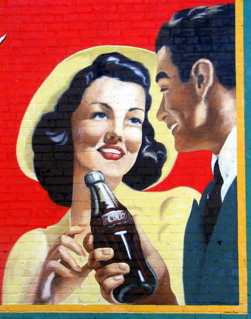 Restored Acworth, GA Coke Mural