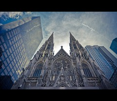 St. Patrick's Cathedral, New York (d.r.i.p.) Tags: street travel usa ny newyork nikon cathedral manhattan broadway stpatrickscathedral 5thavenue drip explore avenue 5th 14mm d80 1424mm28