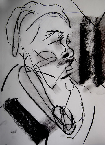 untitled, charcoal on paper, 2008 by Kristie Holiday by kristieholiday