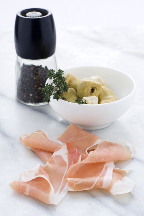 Romiti_Ingredienti Carciofini e prosciutto