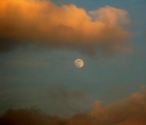 reflecting the setting sun ...