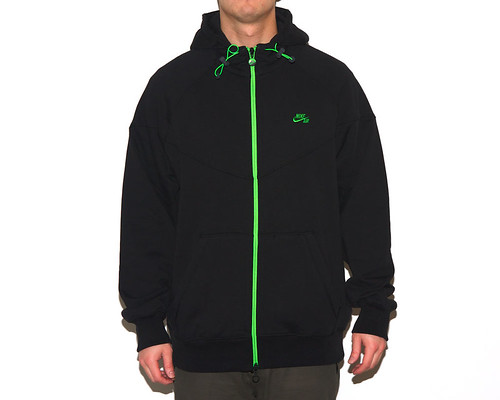 Nike Sportswear Knit Windrunner - Black/Green