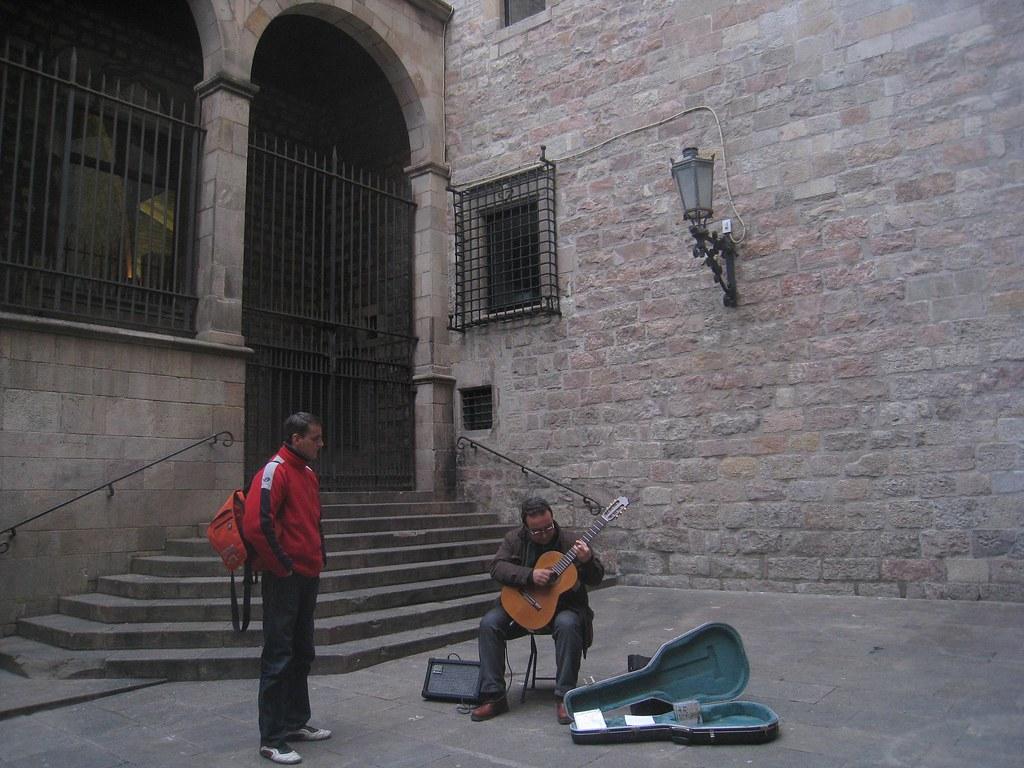 Spanish street performer.