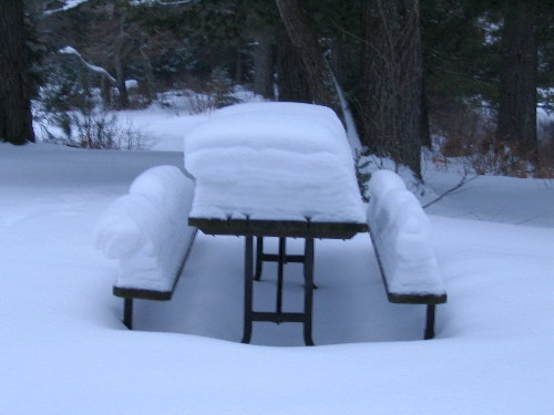 Canadian picnic table