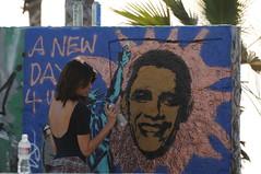 KL4_1201 (kirstography) Tags: painting graffiti artwork artist inaugurationday venicecalifornia graffitipit presidentobama kirstography