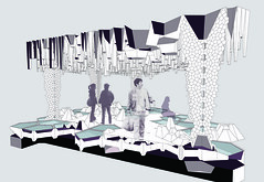 sectionHLN - GROTTO (trevor.patt) Tags: architecture pattern drawing cairo grotto illustrator vector tessellation section gsd fabrication fcb hiddenline