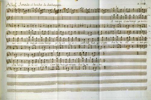 019-Códice Trujillo-partitura Allegro tonada el huicho de Chachapoyas-T2-E180