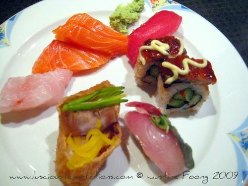 Sushi and sashimi - Kampachi, Bangi