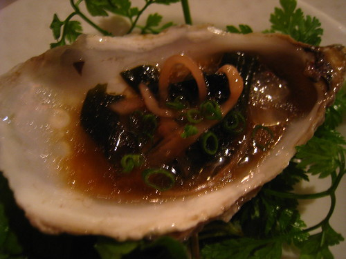 Oyster with seaweed, Ponzu & Sake dressing