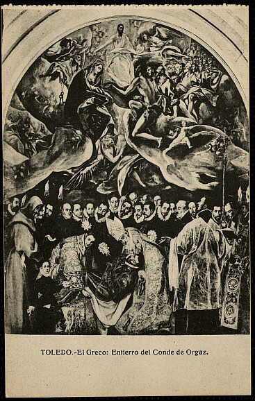 Entierro del Señor de Orgaz. Foto abelardo Linares, 1924