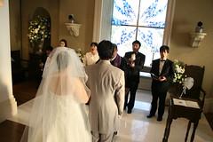 チャペルでの結婚式
