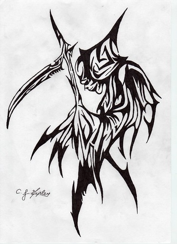 Tribal Grim Reaper Designs | www.pixshark.com - Images ...