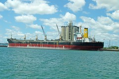 Freighter at Port Canaveral (thejeffreywscott) Tags: boat ship florida freighter portcanaveral commercialboat floridaport