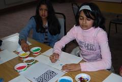 Children draw images for rangoli (artsekta) Tags: rangoli youthart artsekta riceart
