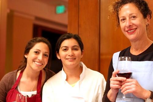 Nancy Silverton and Dahlia Navarez of Mozza with Katie Brucker of La Brea Bakery
