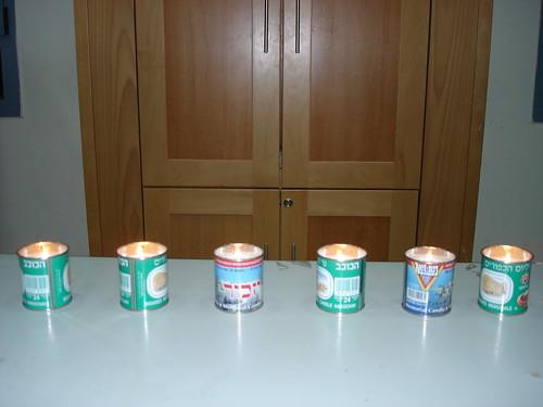 Six memorial candles