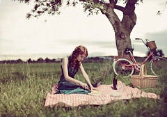 picnic (Bordons) Tags: tree bicycle picnic wine bicicleta campo editorial vino bh mantel torrot bordons