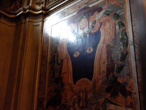 The creepy eyes of Cardinal Bussi in Santa Maria in Trastevere