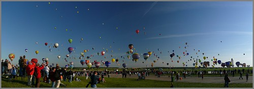 Lorraine Mondial Air Ballons 2009 - Chambley Panoramique Panorama