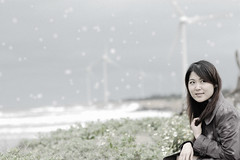 Is the weather too hot ?? come some snow ^^ ?  ^^ (Ming - chun ( very busy )) Tags: snow taiwan win       portrairt