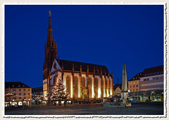 Marienkapelle (AbhijeetVardhan) Tags: longexposure church germany bavaria nikond70 christianity wuerzburg marienkapelle worldbest colorphotoaward