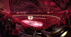 Rock The Red (Wide) at Verizon Center (clydeorama) Tags: red usa ice hockey stairs nhl marketing washingtondc dc washington crowd caps icehockey center arena dcist fans slogan verizon capitals washingtoncapitals nationalhockeyleague verizoncenter rockthered