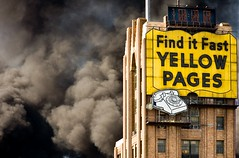 Fire; Find It Fast (SNWEB.ORG Photography, LLC.) Tags: old cloud yellow vintage fire background smoke detroit explosion august event neonsign emergency 2009 foreground yellowpages plume blacksmoke detroitmichigan cityofdetroit detroitmi august09 yellowpagesbuilding august2009 yellowpagessign finditfast diversifiedchemical deversifiedchemicaltechnologies