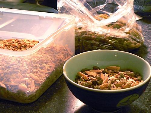 Assembling granola