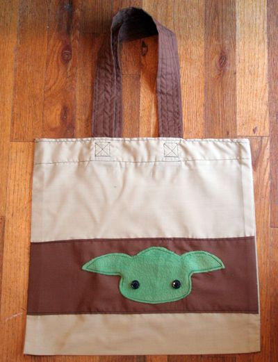 Yoda Market Tote by Heather Mann!