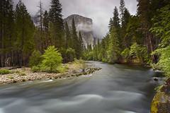 El Capitan Spring - Yosemite National Park, California (PatrickSmithPhotography) Tags: california longexposure travel wallpaper vacation sky mist cold art nature grass rock fog stone forest river landscape waterfall spring stream paradise sierra rapids yosemite granite elcapitan ribbonfalls hoya merc