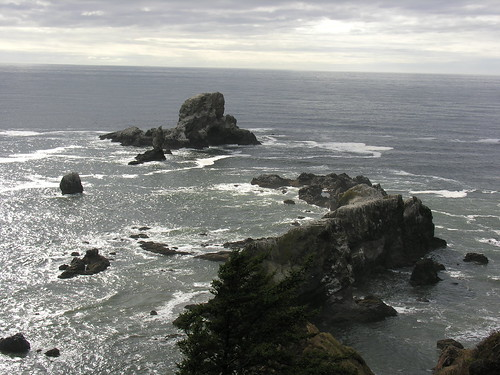 Sea Lion Rocks from Ecola State Park