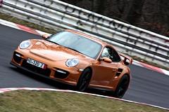 Porsche 997 GT2 (www.nordschleife-video.de) Tags: auto cars car race germany deutschland racing eifel vehicles porsche vehicle autos 2009 rheinland grüne pfalz gt2 motorsport hölle 997 nordschleife nürburgring sportwagen forst adenauer touristenfahrten