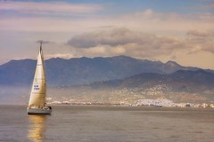 Navegando entre montaas.. (Antonio Vlchez..) Tags: puerto mediterraneo velero salobrea lmar motri