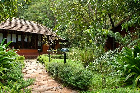 Chitra Aiyer - Going to the rooms, Vythiri resort