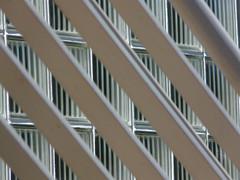 Glass Wall (Vurnman) Tags: windows glass lines pattern steel diagonal ballustrade