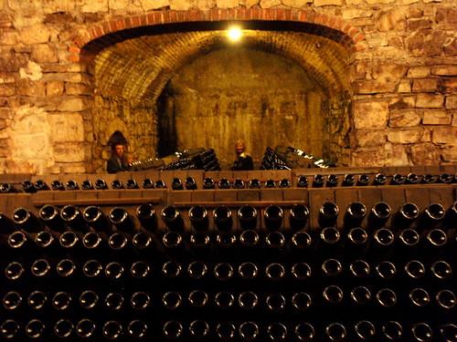 In Berlucchis wine cellar