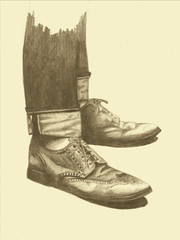 I just wear better shoes. (Justice Mukheli) Tags: art moleskine illustration shoes drawing fineart line charector paperdrawing pencilandpen photographicdrawing