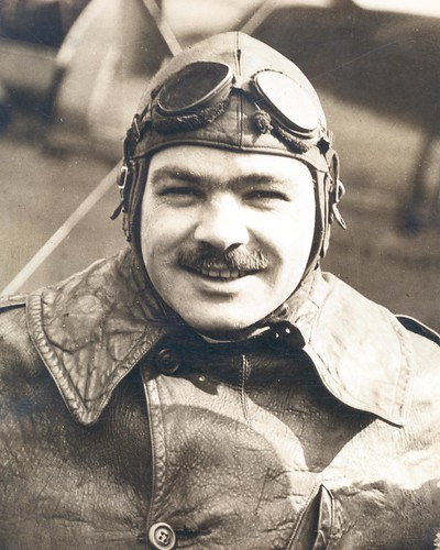 Photograph of airmail pilot Wesley Smith, by unknown photographer, c. 1922, Smithsonian National Postal Museum.