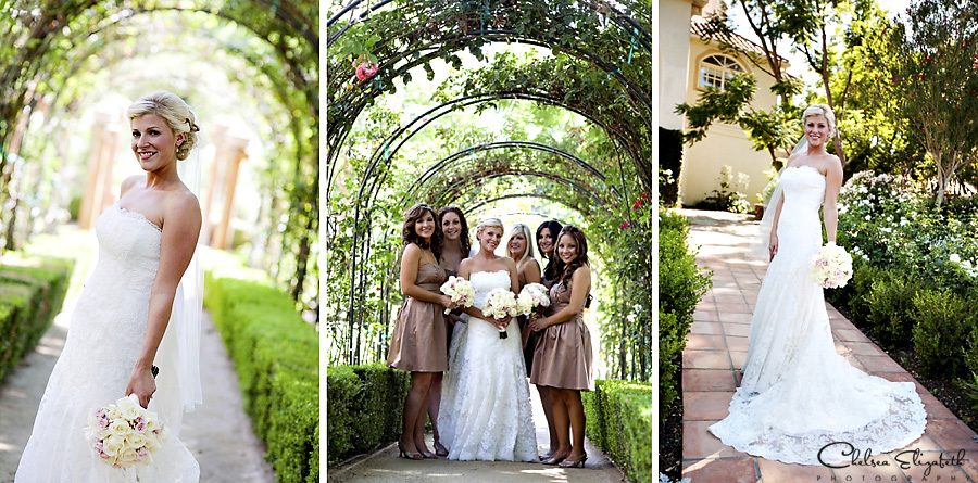 Westlake Village Inn bridesmaids portraits in the rose garden picture