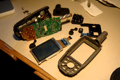 My GPS disassembled