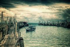 Teluk Bahang jetty - Penang, Malaysia (markwr) Tags: ocean sea sky cloud clouds pier boat fishing jetty malaysia penang hdr highdynamicrange teluk d90 bahang telukbahang nikond90 markwhiterobinson