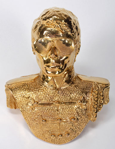 gold michael jackson bust