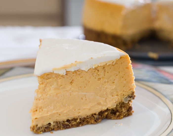 butternut squash cheesecake plated
