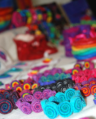 The Rainbow Room @ Wonderwool Wales 2010 (therainbowroom) Tags: art wales felted design craft funky felt colourful rainbows feltro 2010 filz feltmaking therainbowroom wonderwool wonderwool2010