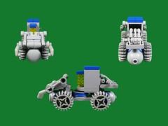 Front-end Loader Rover (Karf Oohlu) Tags: moc lunarrover lebo microscale classicspace microspacetopia roboticrover